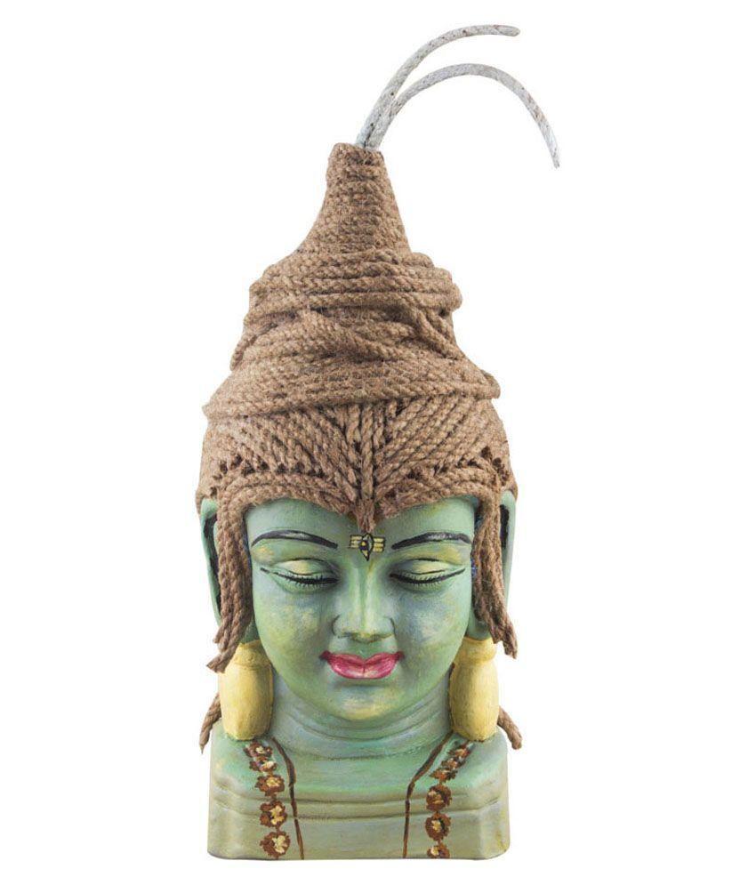 Indikala Blue Terracotta Bhole Nath Figurine