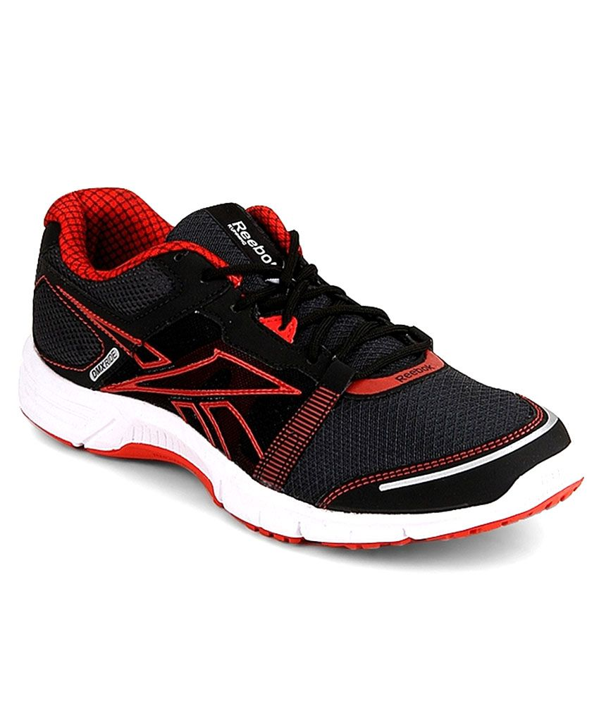e788c45fb9427a Reebok Black Synthetic Leather Running Sports Shoes - Buy Reebok Black  Synthetic Leather Running Sports Shoes Online at Best Prices in India on  Snapdeal