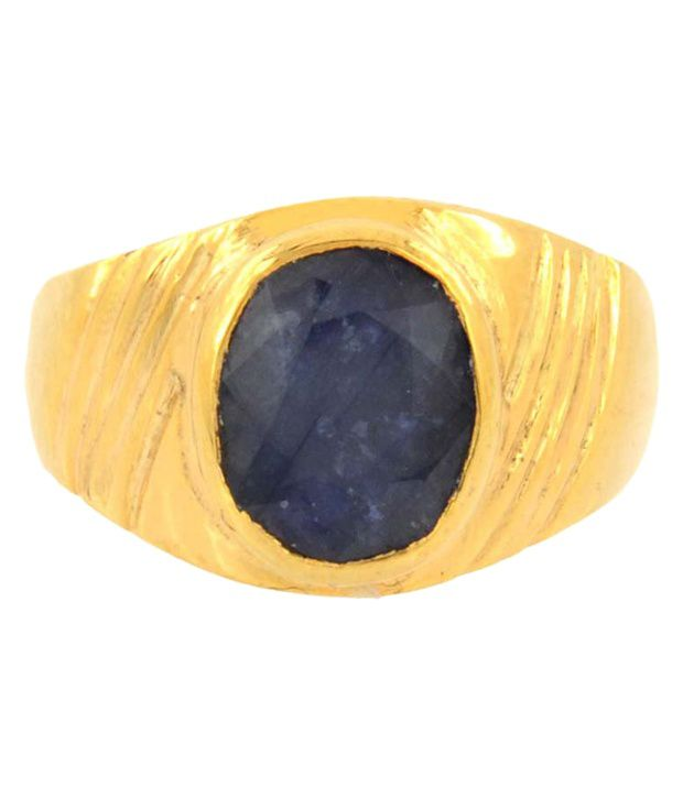 Barishh Adjustable 5.25 Ratti Blue Sapphire Gemstone Neelam Ring
