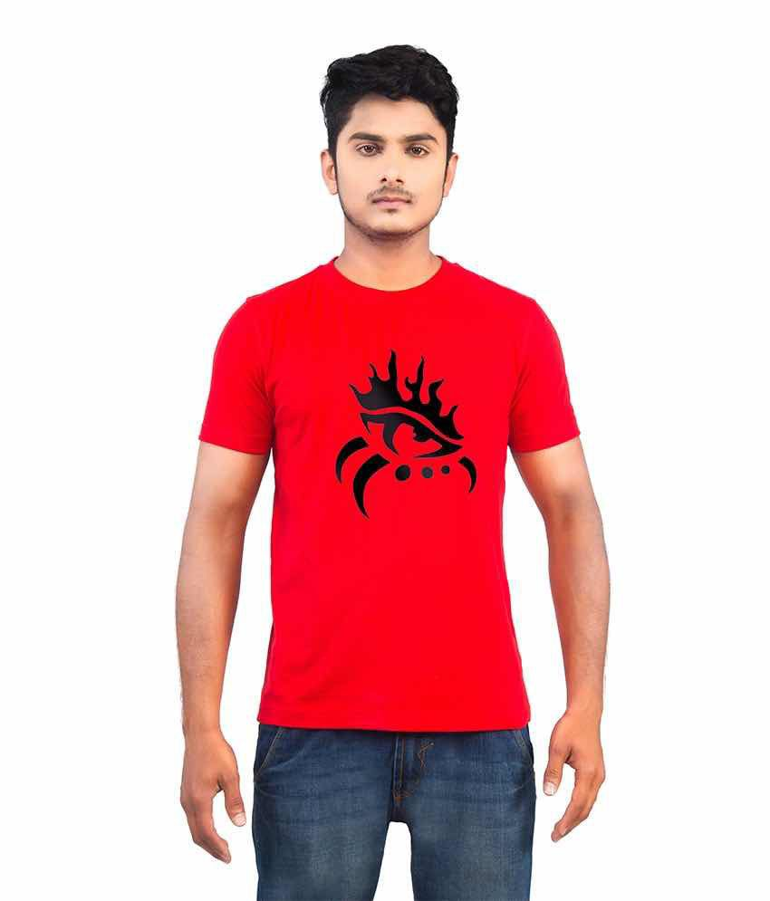 Mars Red Cotton T Shirts