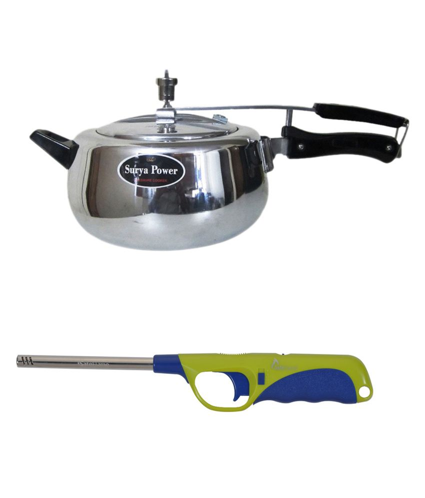 Surya Power 3 Ltr Aluminium Pressure Cooker  available at snapdeal for Rs.1199