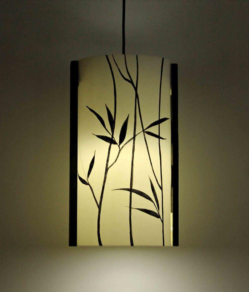 9 Gifts White Polypropylene  pp  Hanging Lamp
