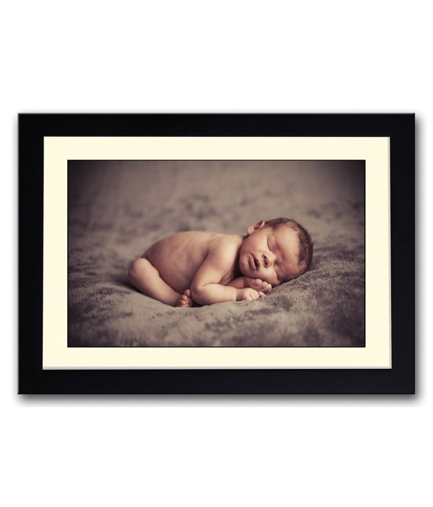 Artifa Matte Amazing Baby Sleeping Painting With Metal Frame