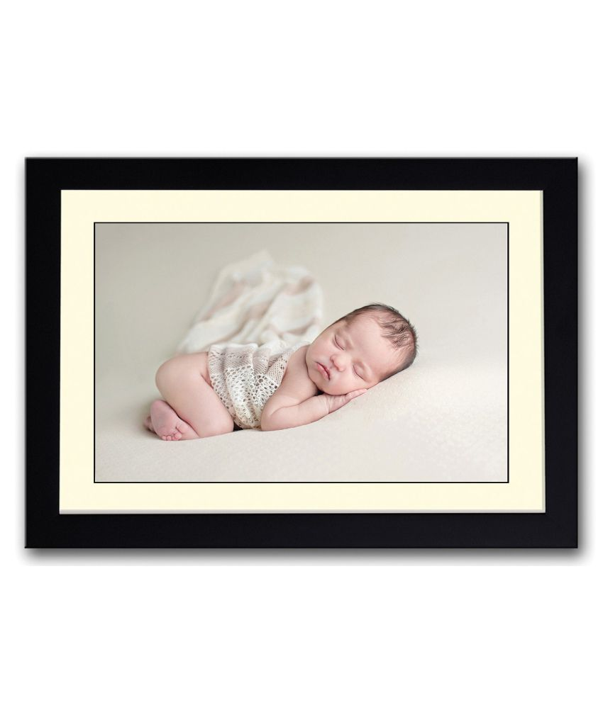 Artifa Matte Amazingly Cute Baby Painting With Metal Frame