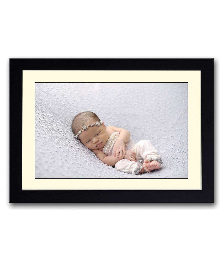 Artifa Matte Baby Sleeping In A Cute Dress Painting With Metal Frame