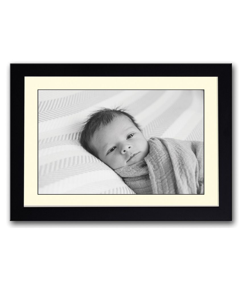 Artifa Matte Baby Wrapped Looking Painting With Metal Frame
