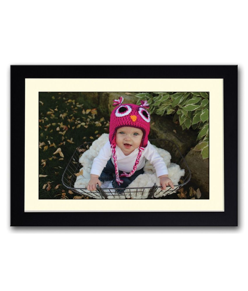 Artifa Matte Cute Baby With Pink Cap Painting With Metal Frame
