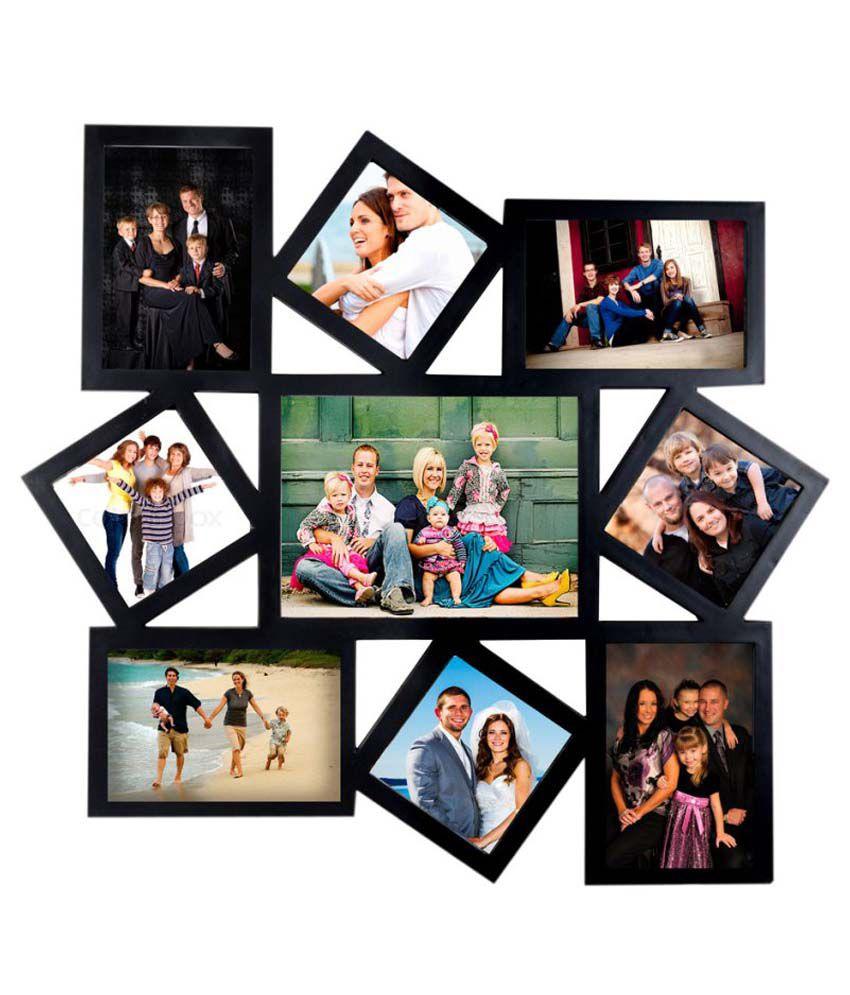 deep large 9 in 1 designer photo frame collage black