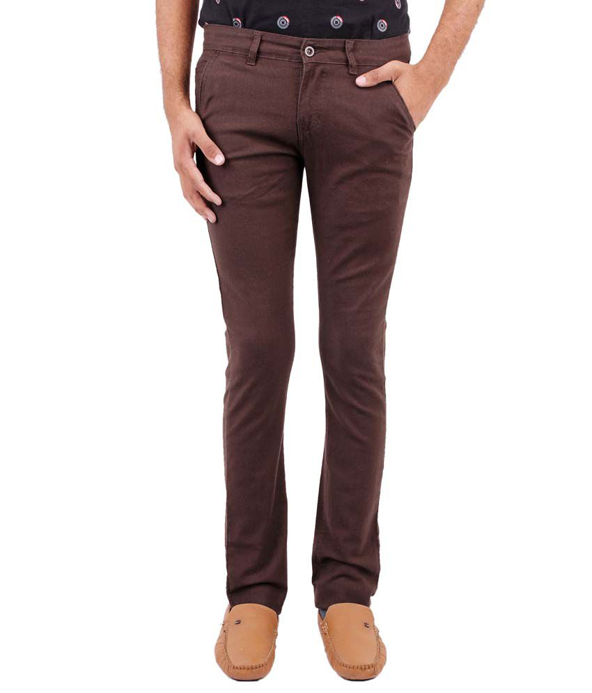 Fever Green Slim Fit Casuals Flat Trouser