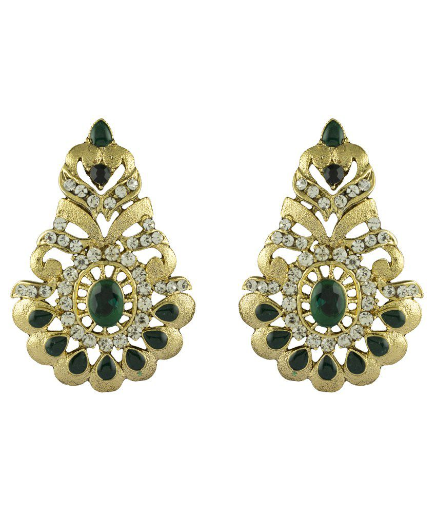 R18Jewels-Fashion&U Green Style Diva Designer Drop Earrings