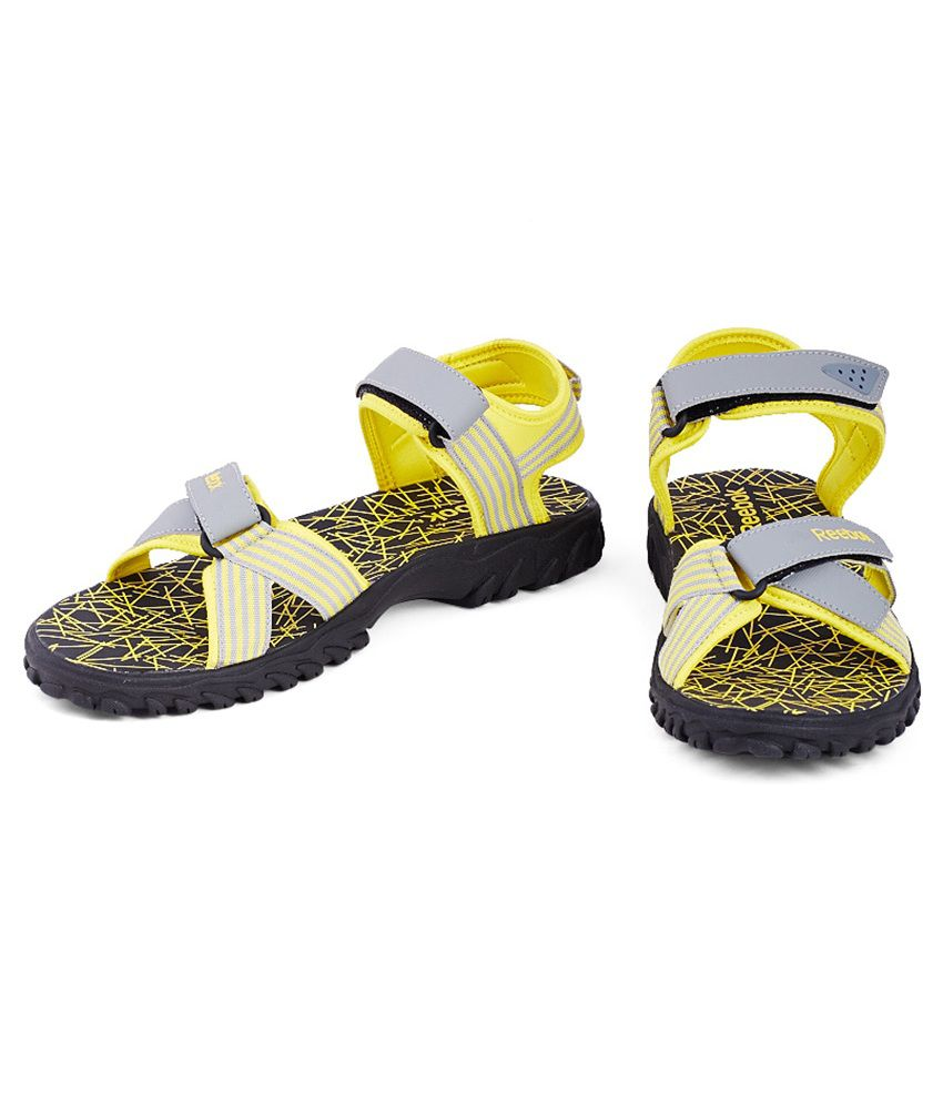 c000496741f9a Reebok Road Connect Ii Lp Yellow Floater Sandals - Buy Reebok Road ...