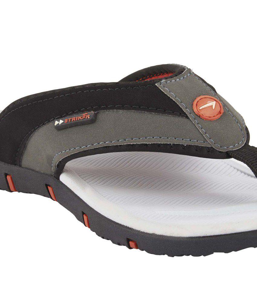 Striker Black Slippers