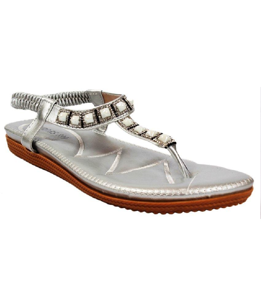 aalishan footwear silver sandals price in india buy