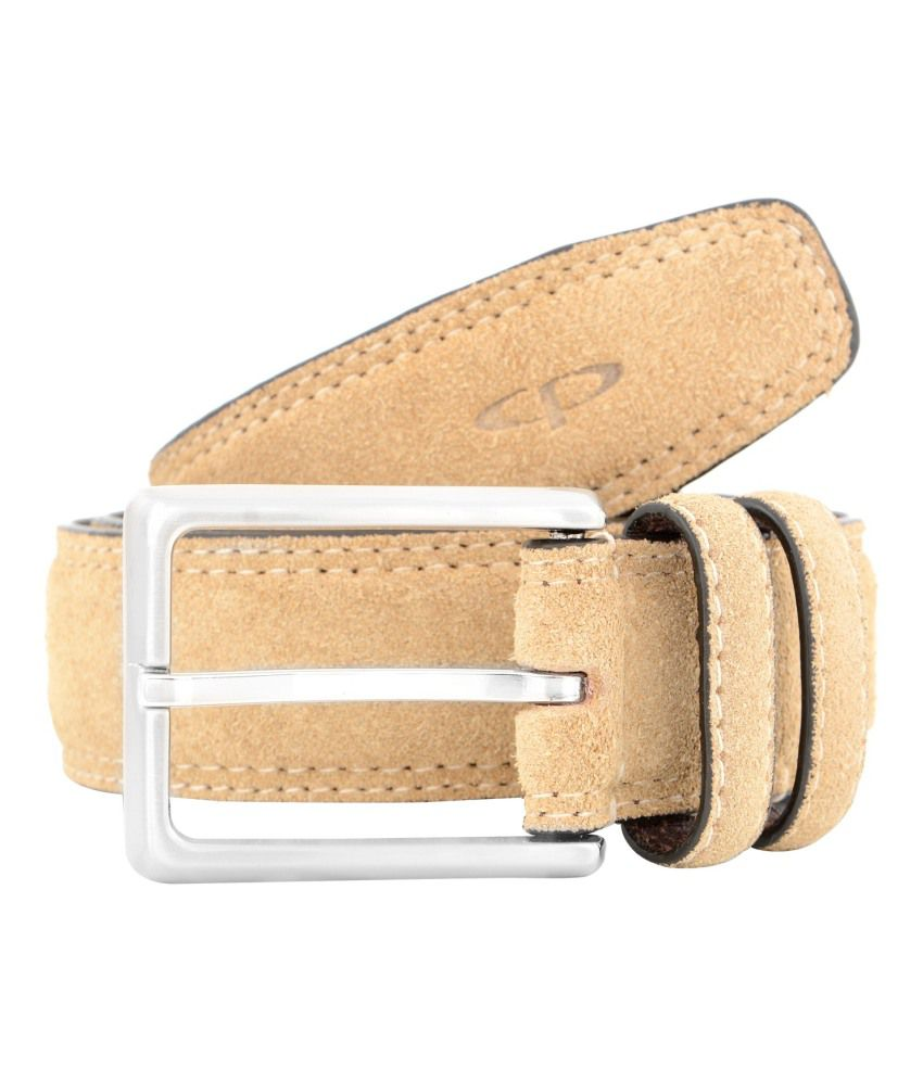 Colorplus Beige Formal Single Belt For Men