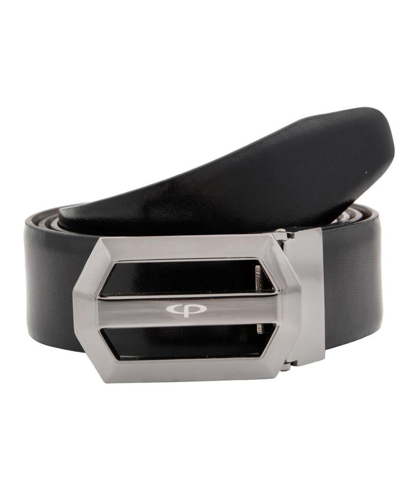 Colorplus Black Formal Reversible Belt For Men