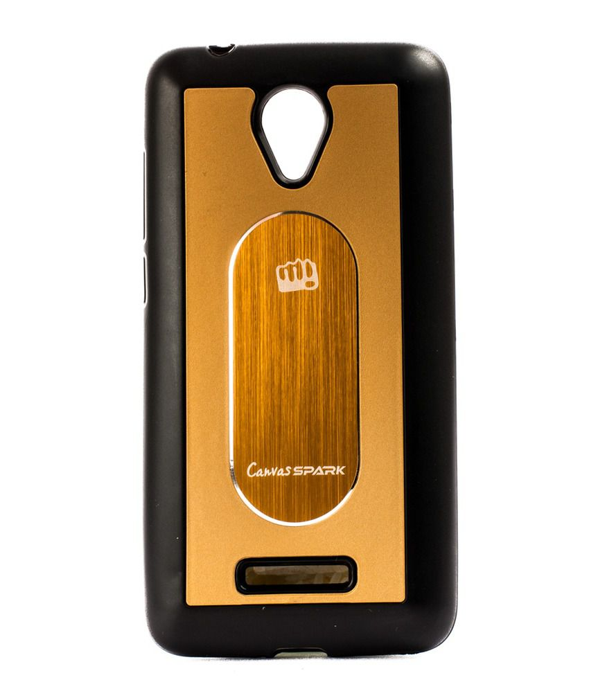 finest selection 3f389 ad9fa Video Tronix Back Cover For Micromax Canvas Spark Q380 - Brown