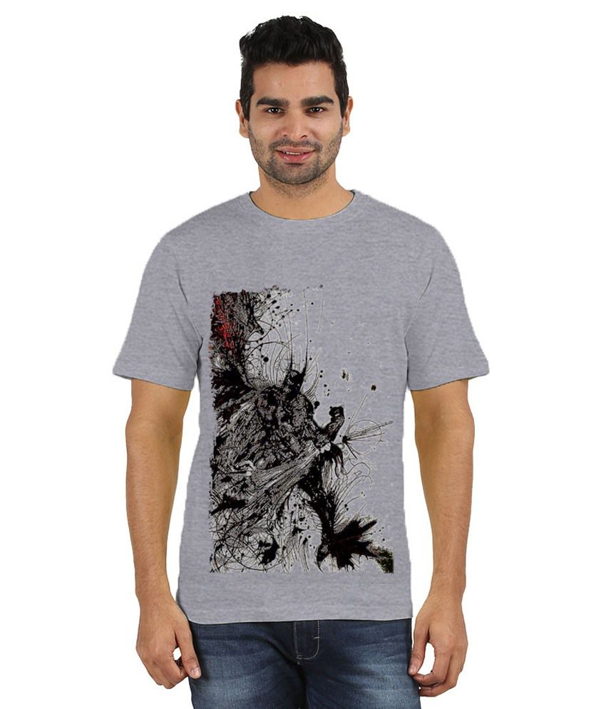 Doozy Shopping Grey Cotton T-Shirt