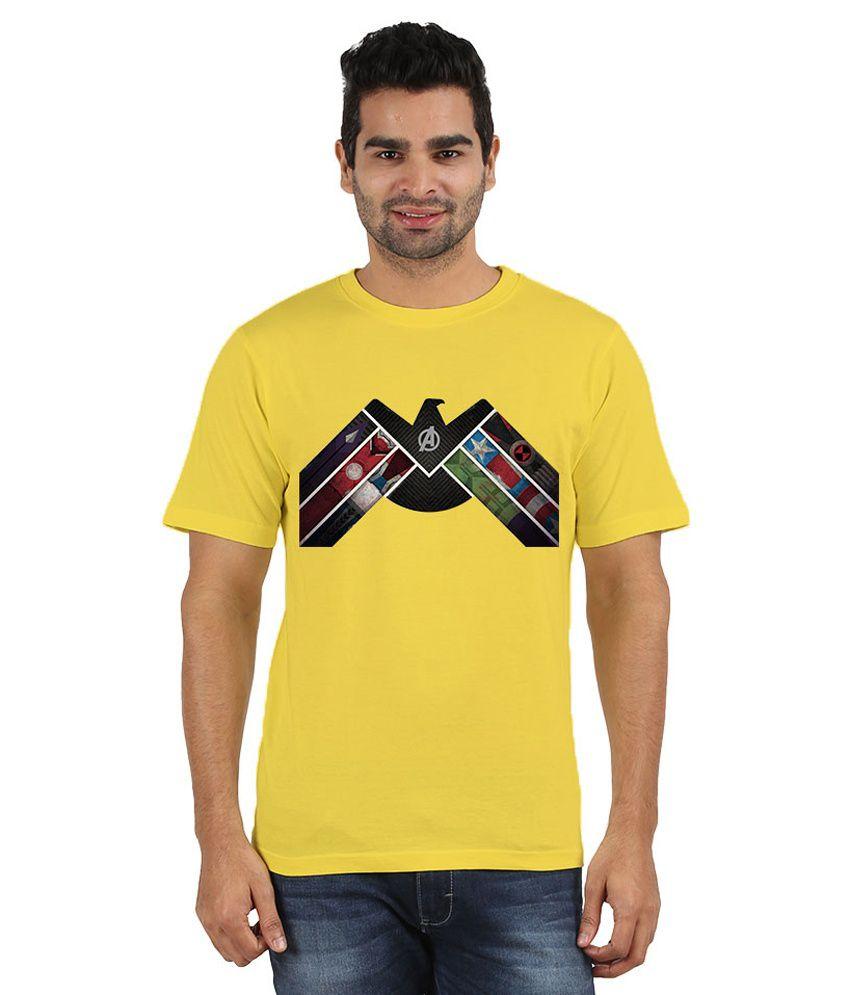 Doozy Shopping Yellow Cotton T-Shirt