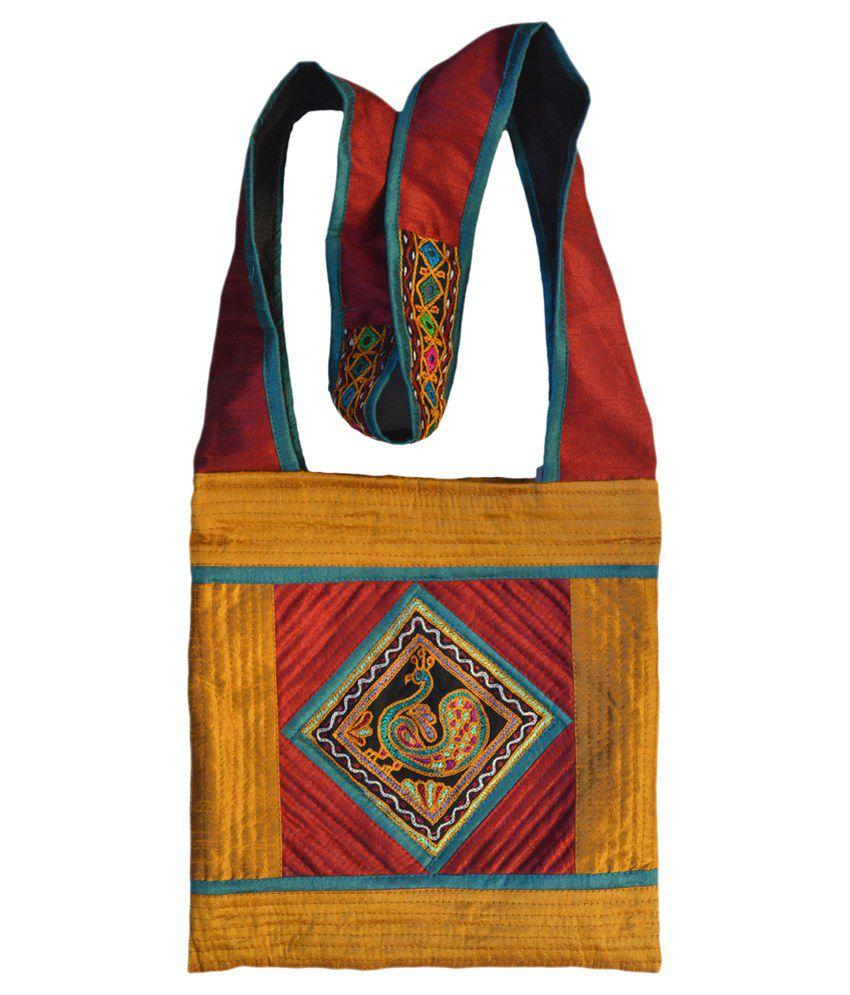 Kutch Craft Traditional Handicraft With Kutchi Embroidery Handwork Handmade Hand Bag