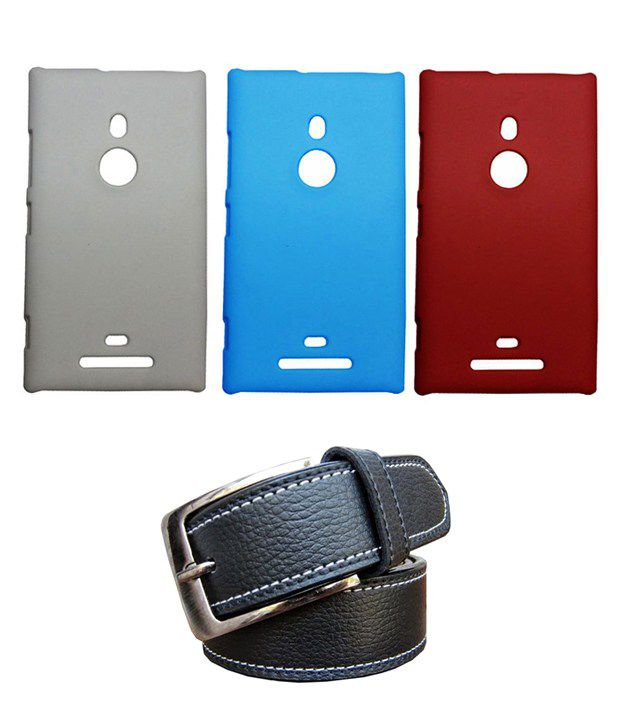 Winsome Deal Black Belt with 3 Back Cover Cases for Nokia Lumia 925