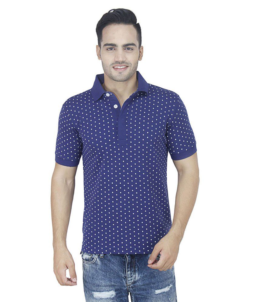 Raw addict blue half sleeves basics polo t shirt buy raw for Full sleeve polo t shirts