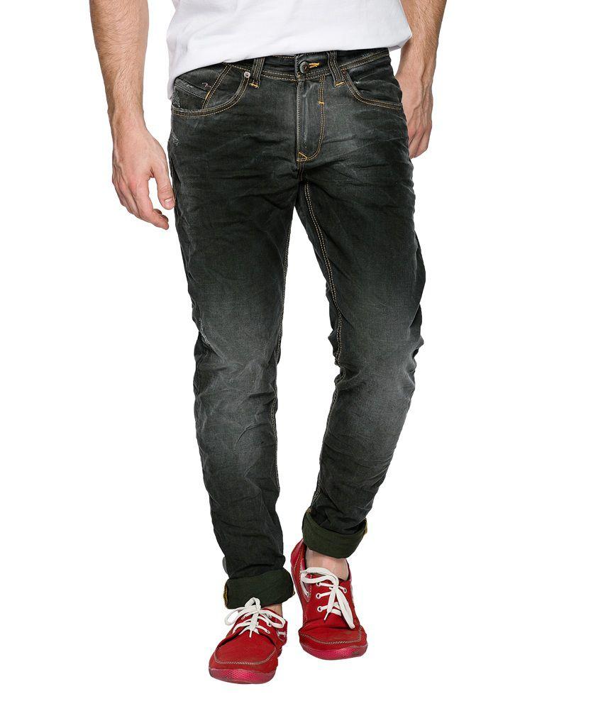 Spykar Black Cotton Skinny Fit Jeans