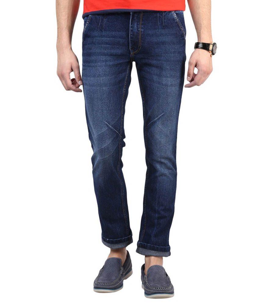 Super-X Blue Skinny Fit Jeans