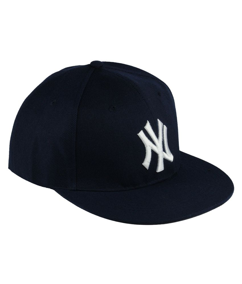 Zeal Navy Cotton Baseball Cap For Men