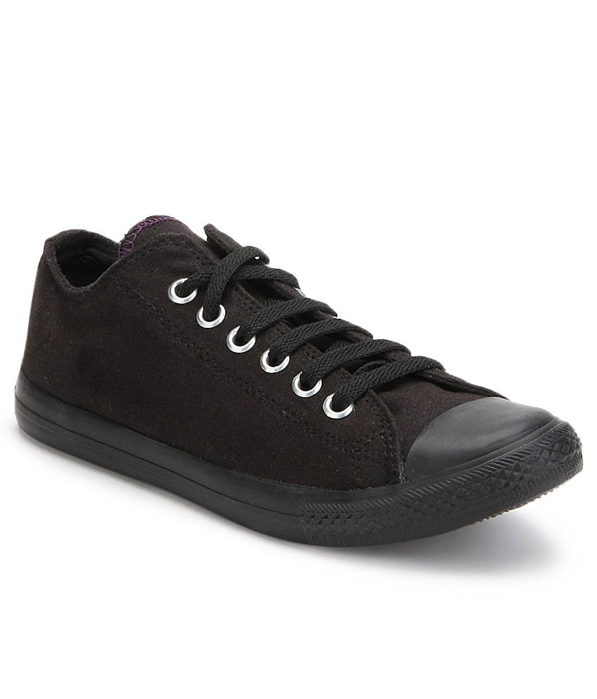 Converse Black Shoes Snapdeal
