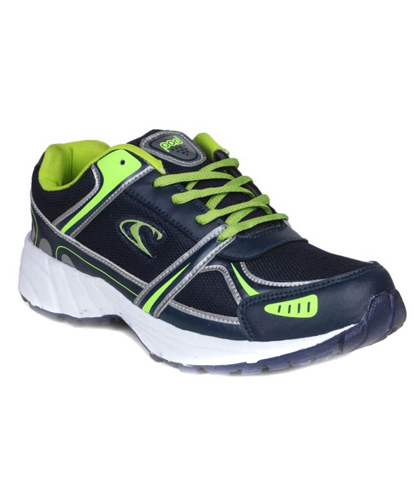 Combit Blue And Green Sports Shoes