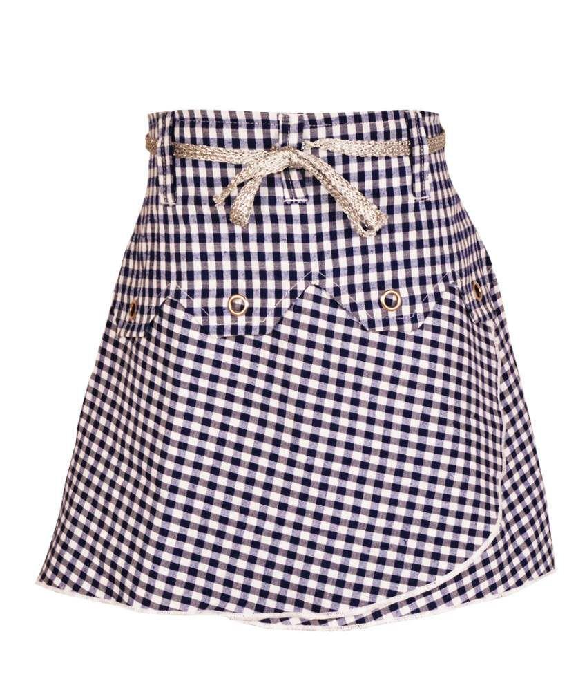Gkidz Blue Cotton Skirt