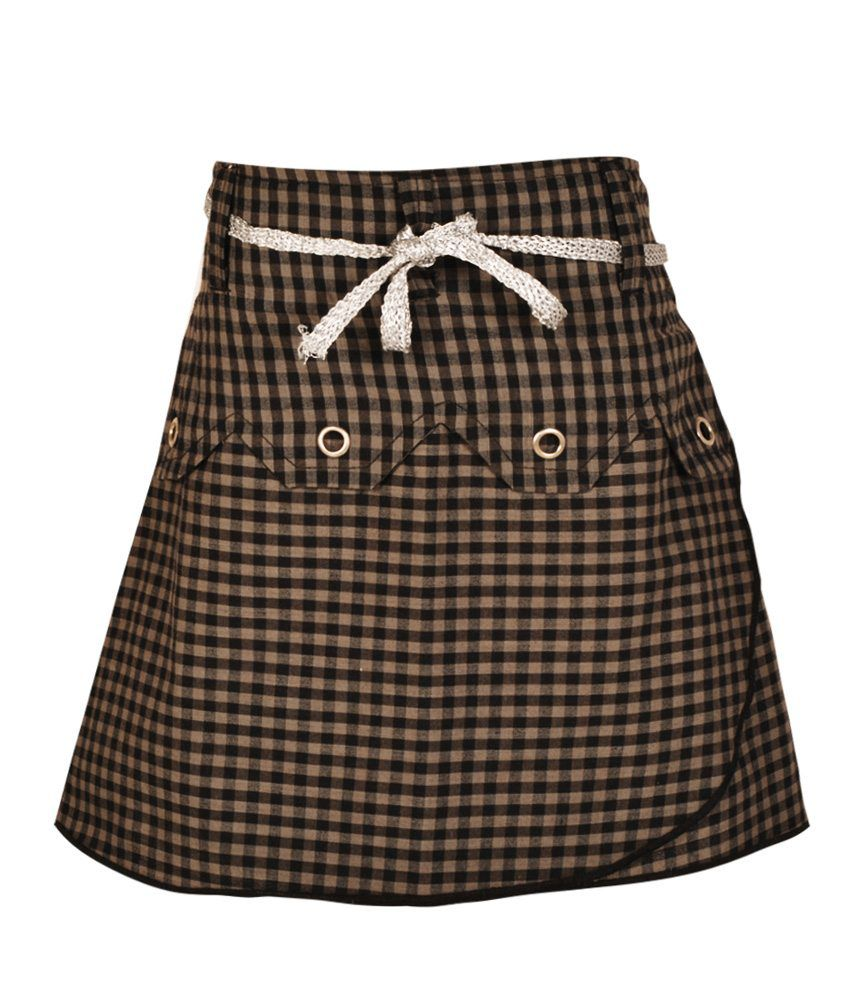 Gkidz Gray Cotton Skirt