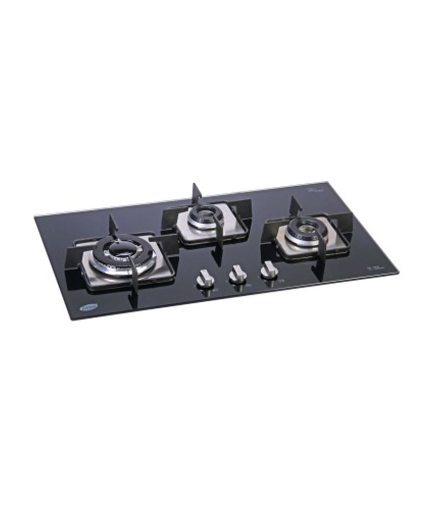 Glen GL-1073 SQ IN 3 Burner Built In Hob Auto Ignition Gas Cooktop