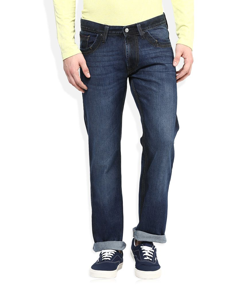 Lee Navy Medium Wash Regular Fit Jeans