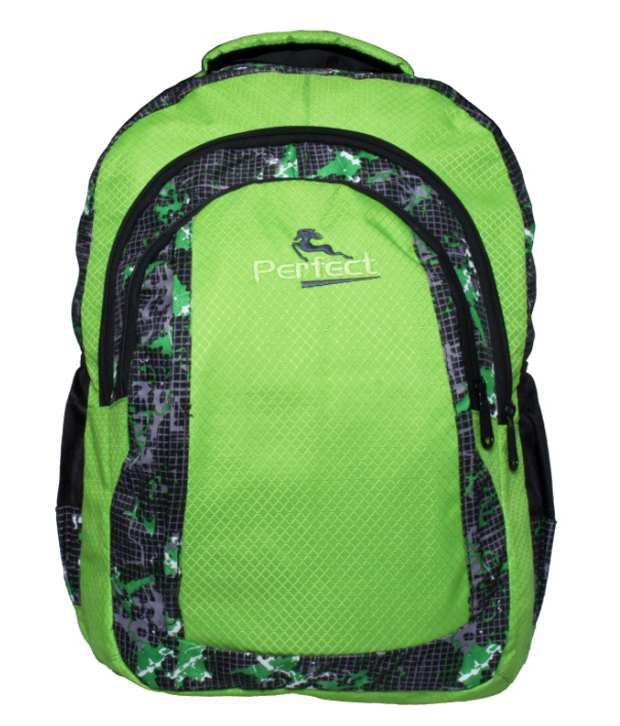 Perfect Green Polyester Laptop Bag