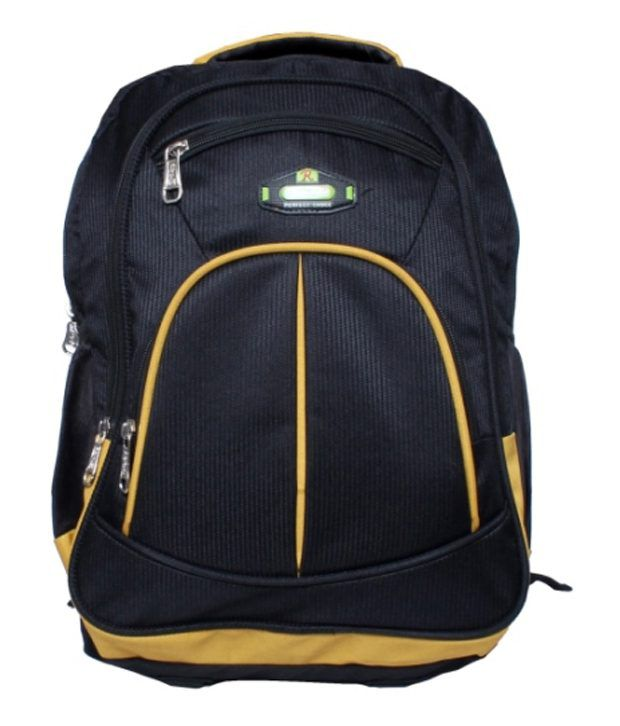 RBC Riya,R Black Polyester Laptop Bag