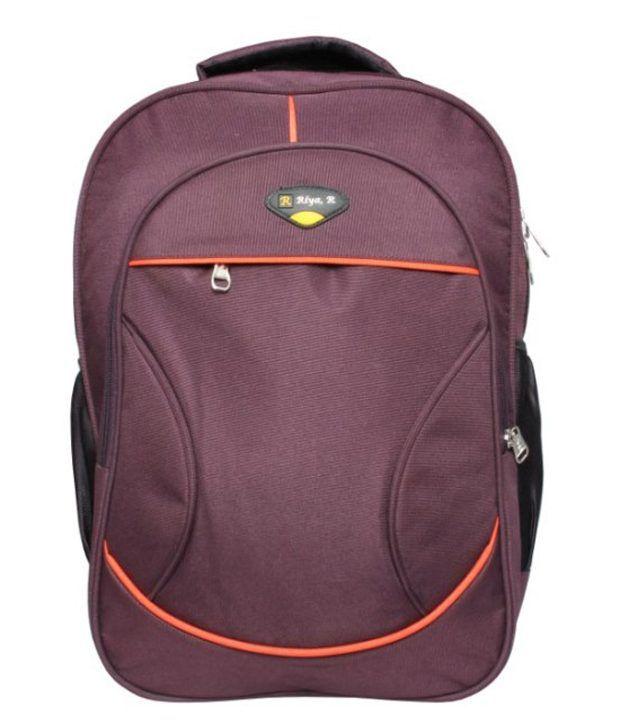 RBC Riya,R Maroon Polyester Laptop Bag