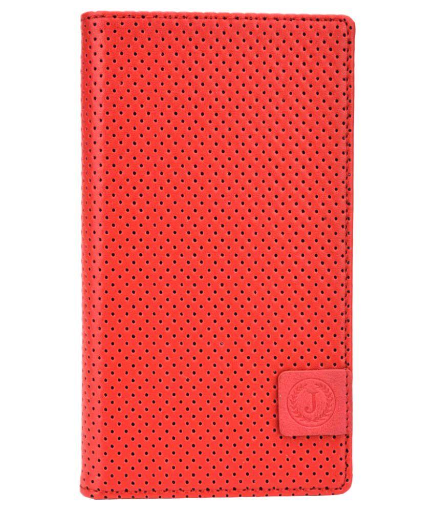 Jo Jo Flip Cover for Videocon Infinium Z50 Quad - Red