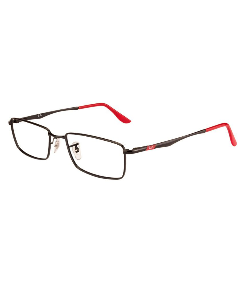 ray ban spectacles online  Ray-Ban Red and Black Ractangle Stylish Eyeglasses for Men - Buy ...