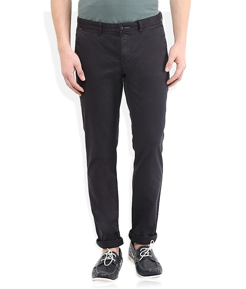 Sisley Black Slim Fit Trousers