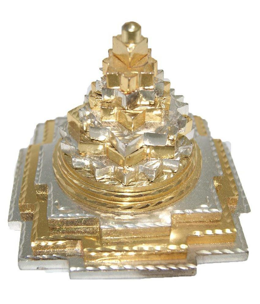 Jewelswonder Prabhu Drishti Gold Silver Shree Yantra: Buy