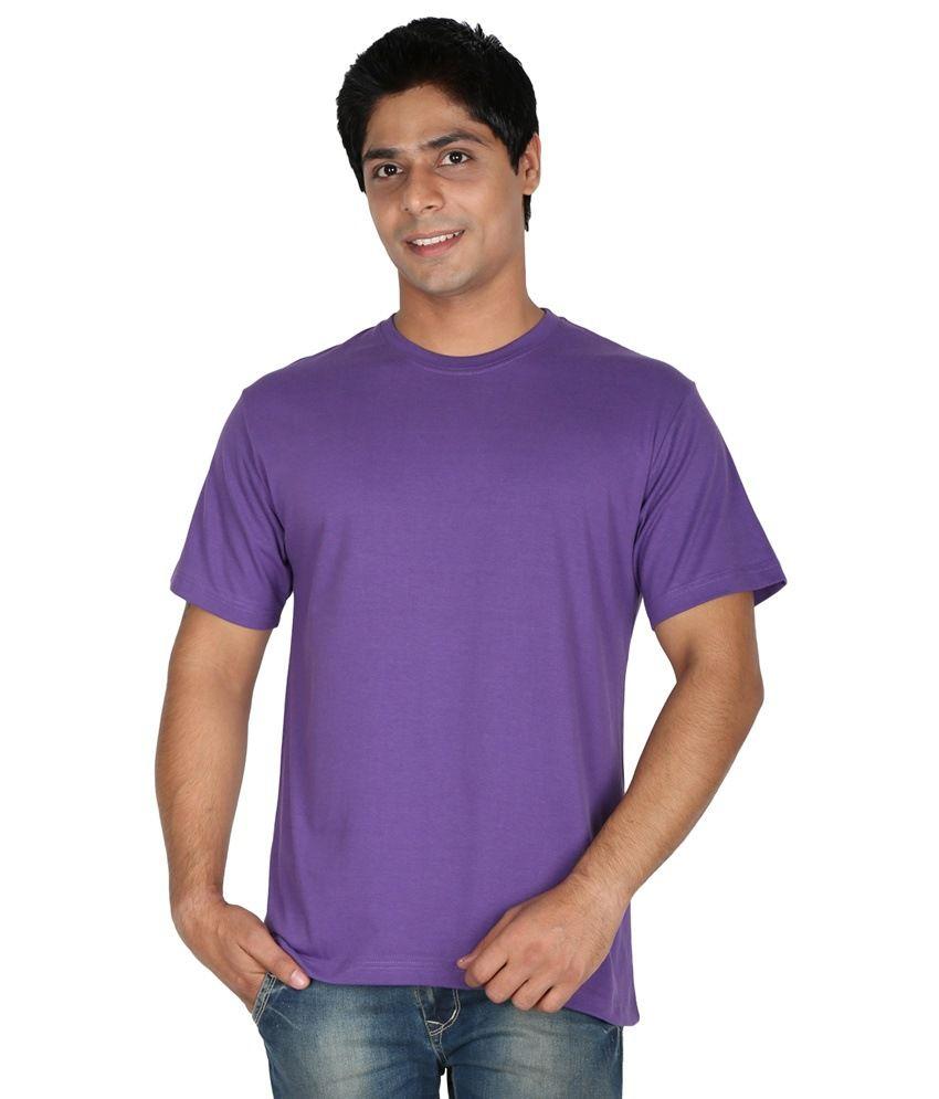 Prajakta Agro Services Purple Cotton T-shirt