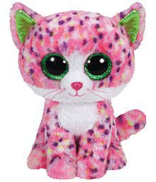 Jungly World Pink & White Sophie Cat Soft Toy for Kids