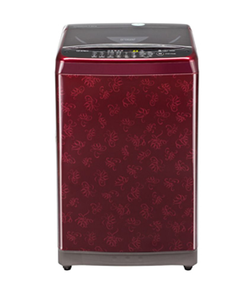 LG 7 Kg T8068TEEL3 Fully Automatic Top Load Washing Machine Dark Red Pattern