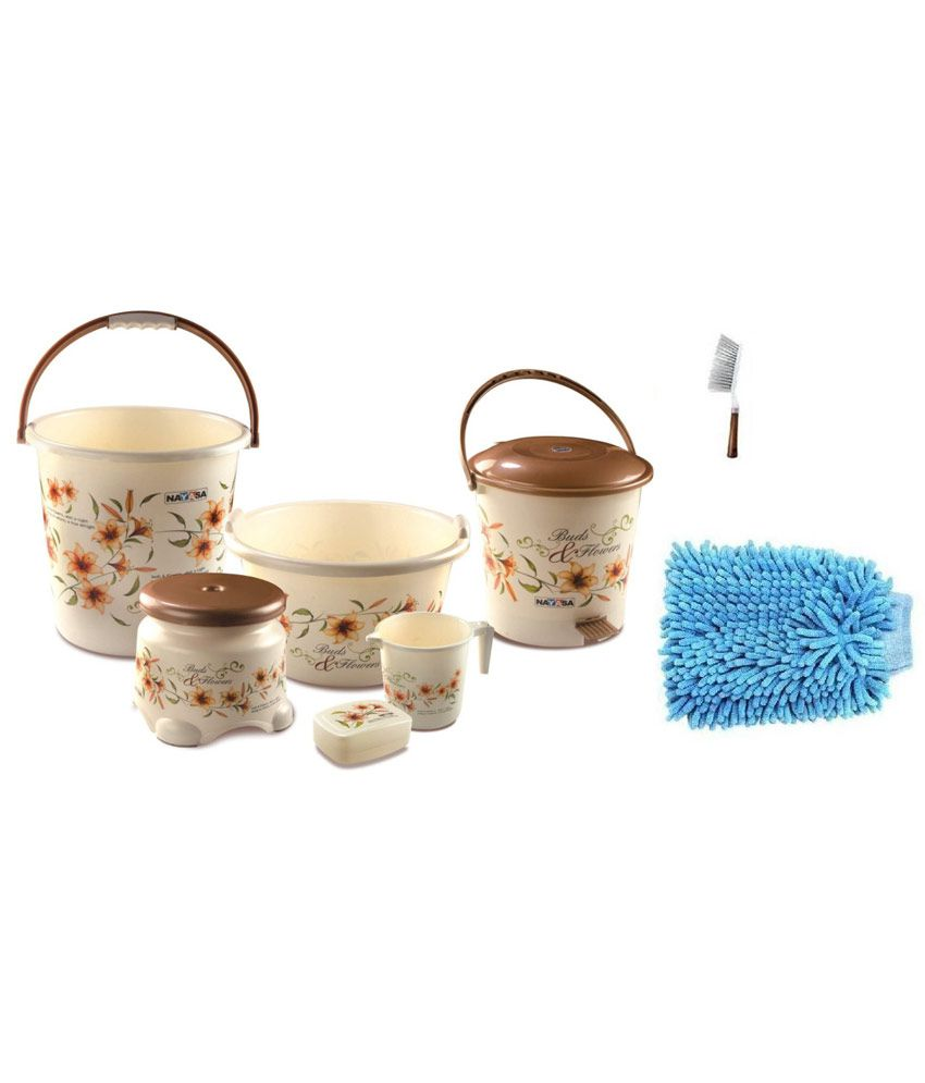 Nayasa brown bathroom accessories set buy nayasa brown for Gen y bathroom accessories