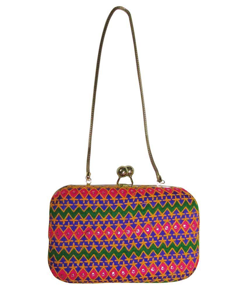 Balee Fashions Multicolour Clutch
