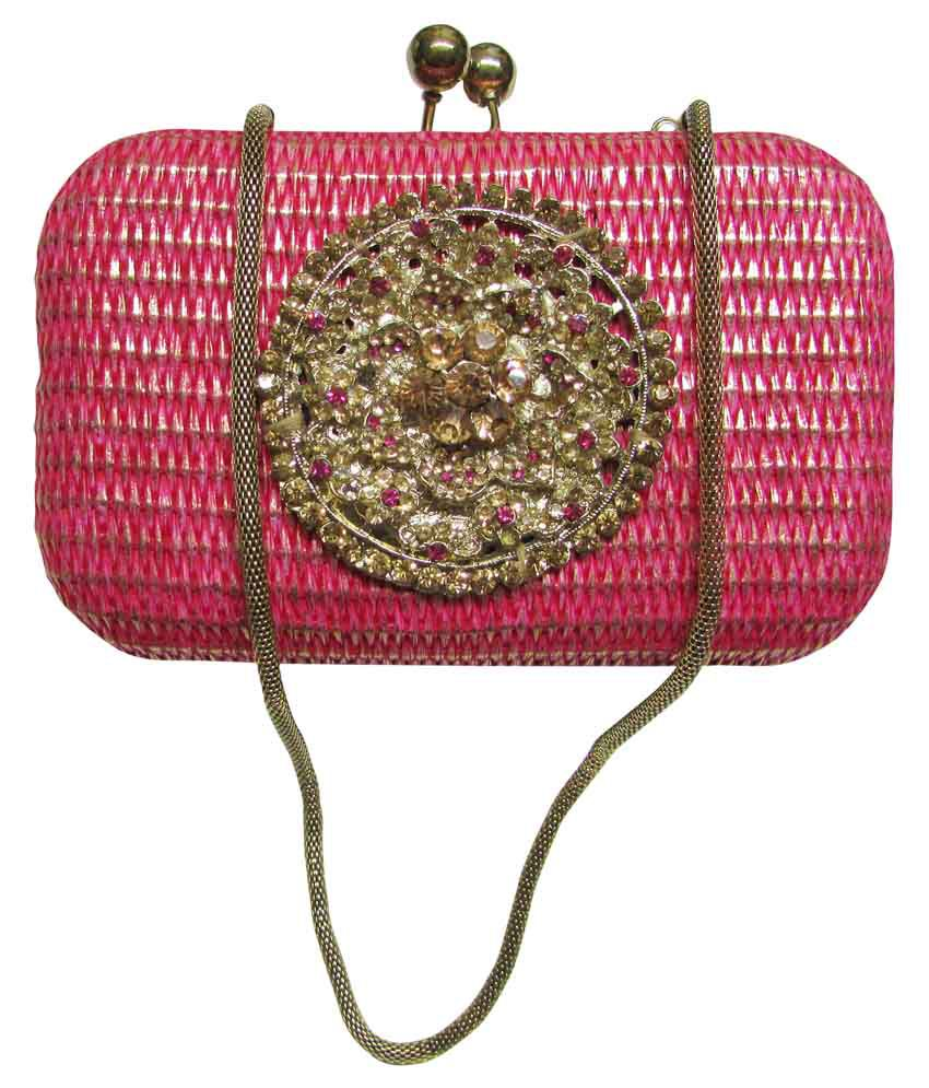 Balee Fashions Pink Clutch