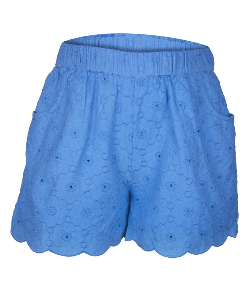 My Lil' Berry Blue Cotton Shorts