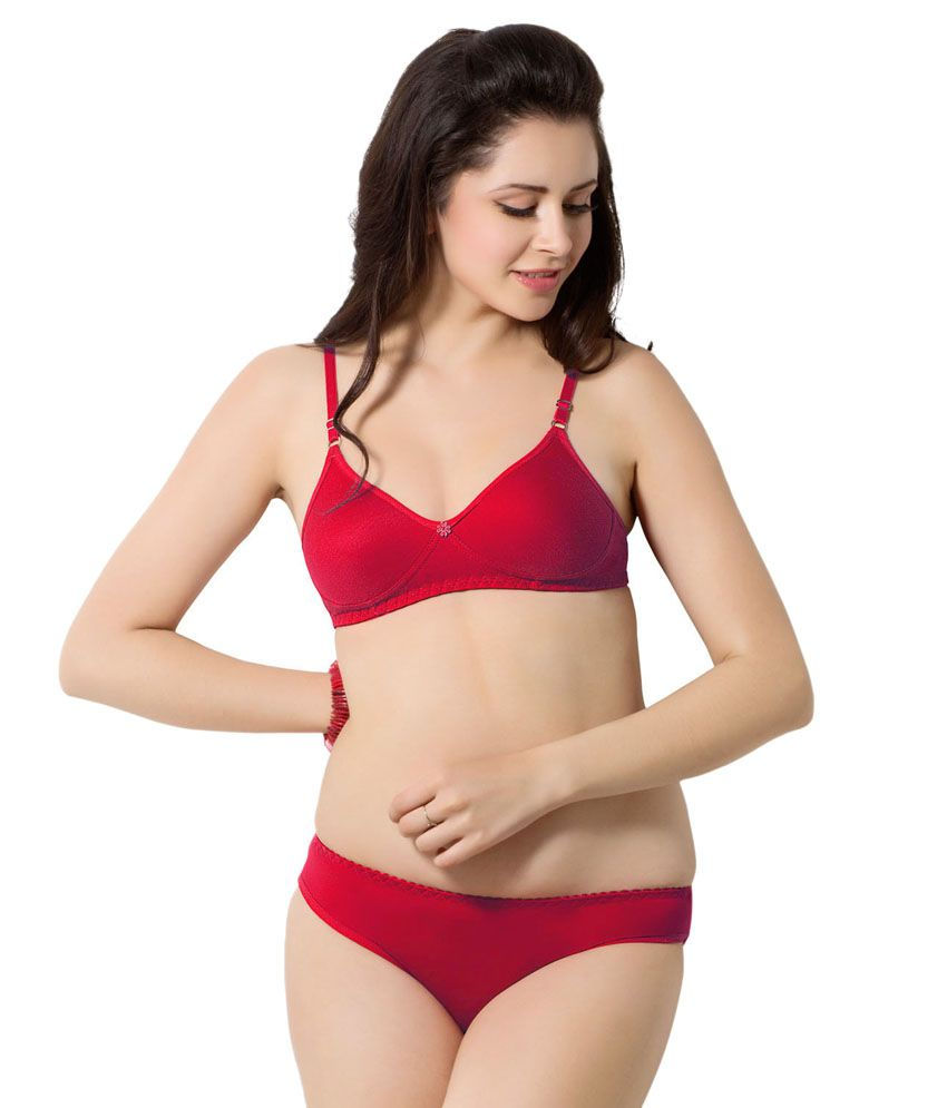a9d81a17e6 Simoni maher-12 Red Bra And Panty Sets - Best Price in India ...