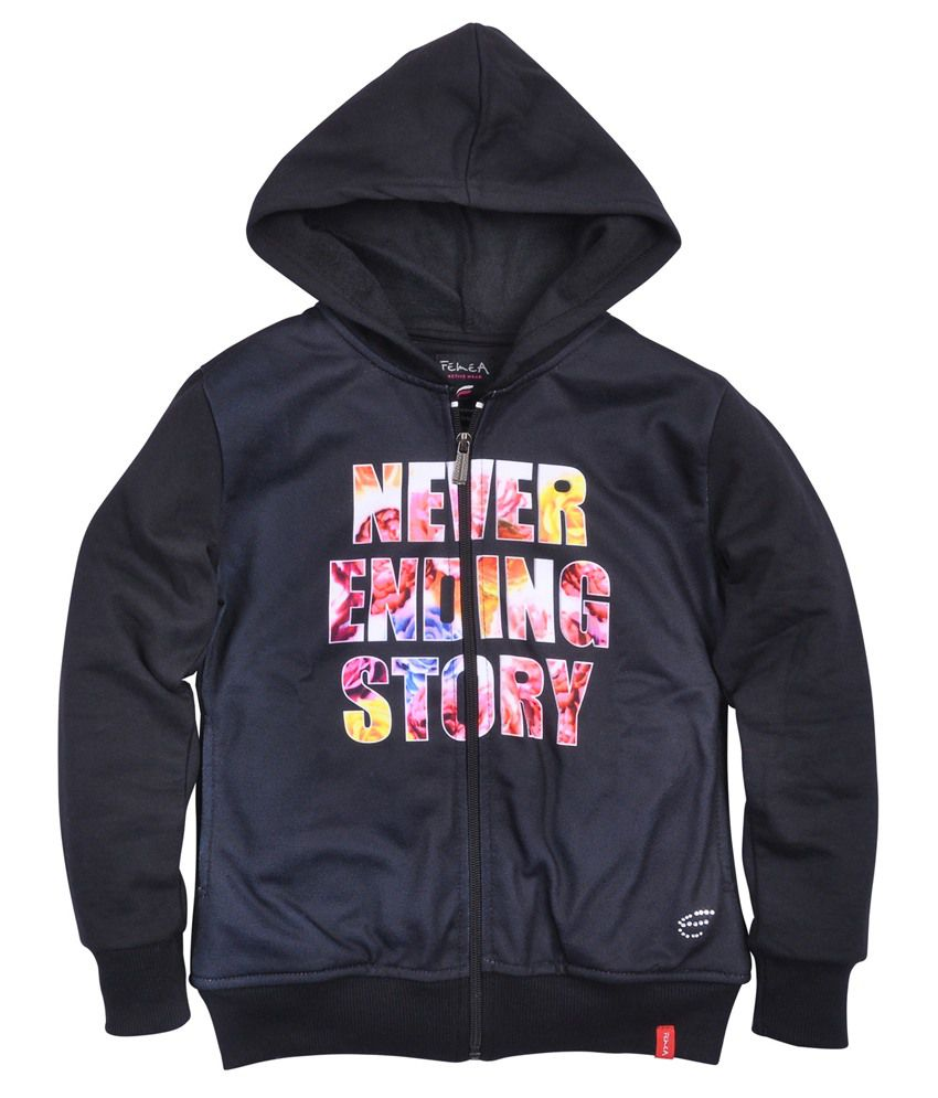 Femea Black Sweatshirt With Hood